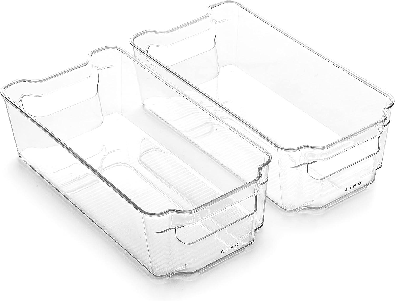 BINO Stackable Plastic Storage Max 41% OFF SALENEW very popular! Bins Medium - STA Pack 2 THE