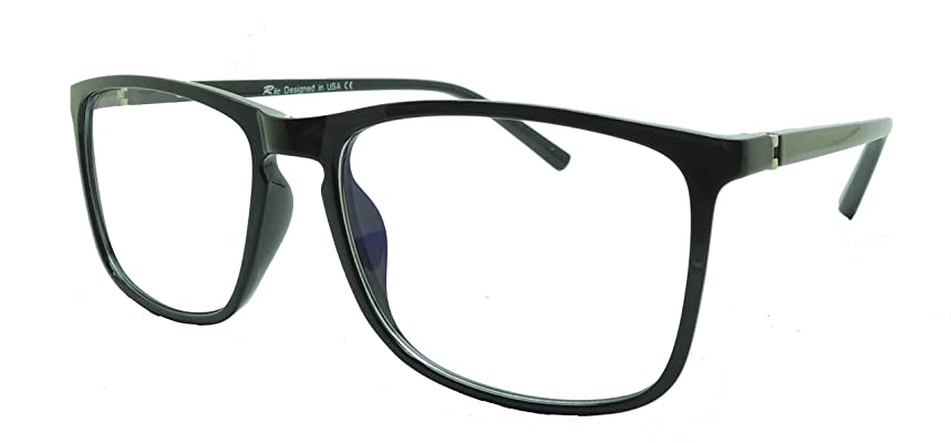 Ric Anti Blue Ray UV Eye Protection Computer Screens Blue Light Blocking Glasses Black Clear