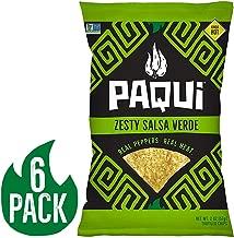 Paqui Tortilla Chips, Gluten Free Snacks, Non-Gmo, Cool Salsa Verde, 2oz (Pack Of 6)