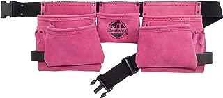 Graintex DS2118 11 Pocket Work Apron Pink Leather
