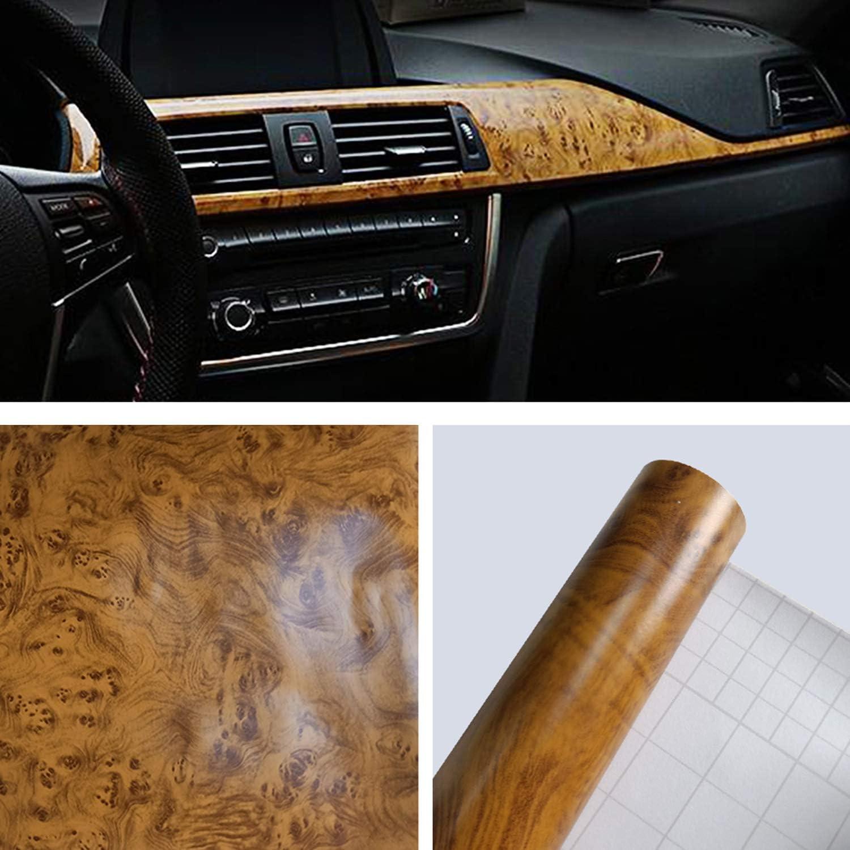 Carrfan Car Interior Vinyl Wrap Decal Sticker Grain Wood Max 44% OFF Glossy trust