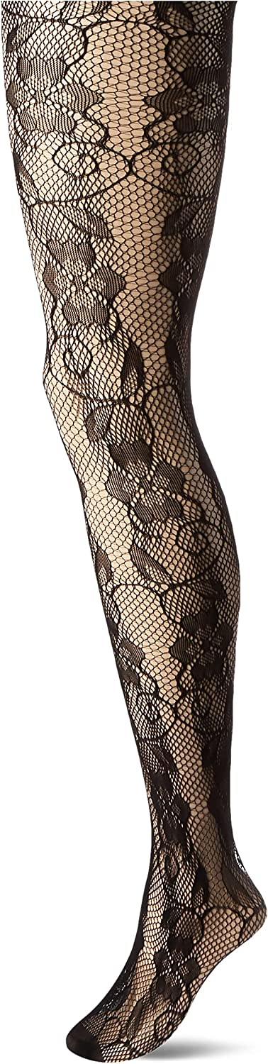 DKNY womens Floral Lace Net Tights