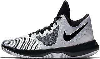 Mens AIR Precision II Basketball Shoes (7 M US, White/Black)