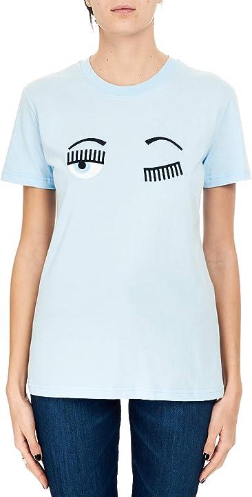 T-shirt in cotone con ricamo flirting frontale chiara ferragni 20AI-CFT057