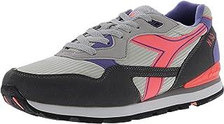 Diadora Men's N-92 Alaska Gray/Corsican Blue Ankle-High Nylon Fashion Sneaker - 4M