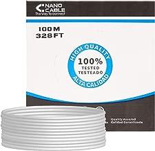 NANOCABLE 10.20.0902 - Cable de Red Ethernet rigido RJ45 Cat.6 FTP AWG24, rigido, Gris, Bobina de 100mts