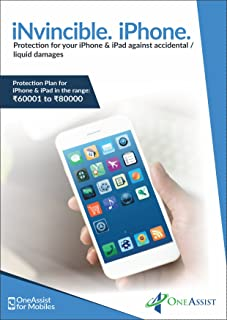 OneAssist Accidental & Liquid Damage Protection Plan for iPhones & iPads from Rs. 70001 to Rs. 80000 Range
