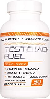 TestoJack Fue Male Enhancing Pills (1 Month Supply) - Enlargement Booster for Men - Increase Size, Strength, Stamina - Energy, Mood, Endurance Boost - All Natural Performance Supplement - Made in USA