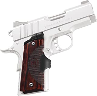 Crimson Trace LG-902 Master Series Lasergrips Red Laser Sight Grips for 1911 Compact Pistols - Rosewood