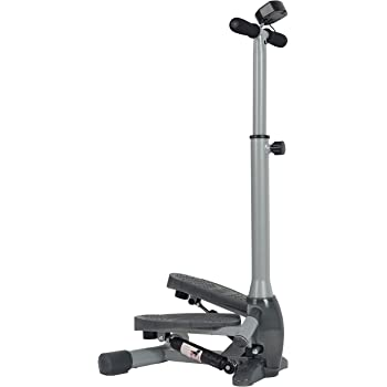 Sunny Health & Fitness SF-S0637 Twist-in Stepper Step Machine w/Handlebar and LCD Monitor