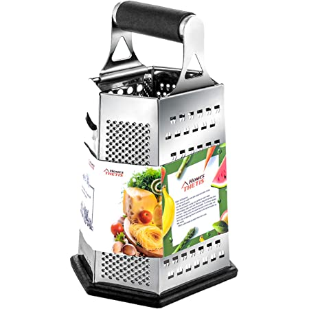 Rallador de Verduras y Quesos Acero Inoxidable 24 Cm | con Mango para Sujetar EUROXANTY Rallador de Tomates 1 Unidad Rallador para Chocolate