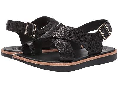 Kork-Ease Canoe (Black Full Grain Leather) Women