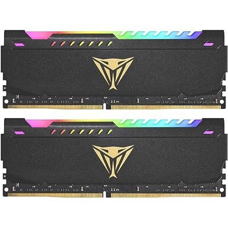PATRIOT Memory パトリオットメモリ Viper Steel RGB DDR4 3200MHz PC4-25600 32GB (2 x 16GB) デュアルキット デスクトップ用メモリ PVSR432G320C8K