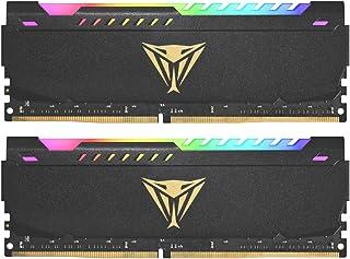 PATRIOT Memory パトリオットメモリ Viper Steel RGB DDR4 3600MHz PC4-28800 32GB (2 x 16GB) デュアルキット デスクトップ用メモリ PVSR432G360C0K