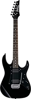 Ibanez GIO Series GRX20Z Electric Guitar Black Night - With Ibanez IGB101 Gig Bag, On-Stage Guitar Stand, Cloth
