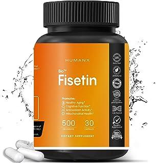 Fisetin 500mg - Fisetin Supplement (Similar to Apigenin, Luteolin, Quercetin) Senolytic Activator - Sirtuin Activator - Bi...