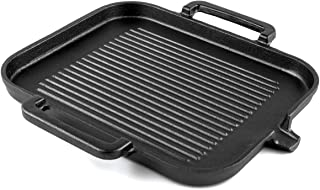 """Waykea 12"""" Cast Iron Griddle Heavy Duty Rectangular Grill Pan 