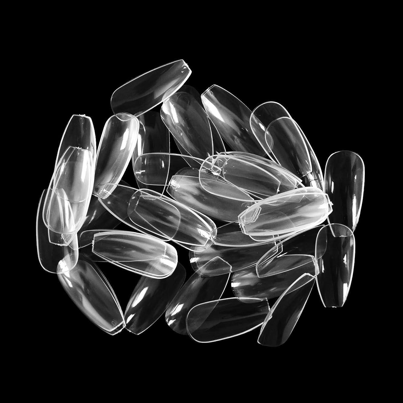 千レンジレビュアーネイルチップ Missct つけ爪 無地 ロング スクエア型 600枚入れ 10サイズ 爪にピッタリ 付け爪 練習用 透明 ネイル用品 デコレーション ネイルアート