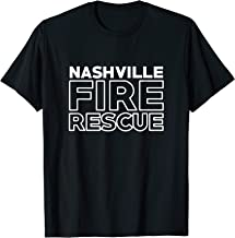 City of Nashville Fire Rescue Tennessee Firefighter T-Shirt