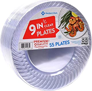 members mark 9 clear plastic plates