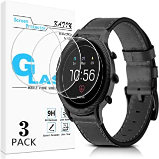KATIN Fossil Q Venture HR Gen 4 Screen Protector - [3-Pack] Tempered Glass for Fossil Q Venture HR Gen 4 Bubble Free, 9H H...