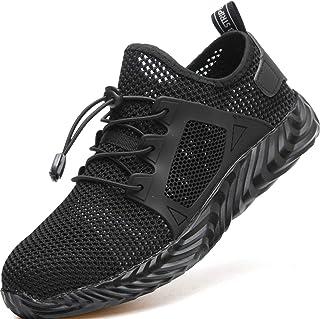 TQGOLD® Chaussure de Sécurité Homme Femme Basket de Travail avec Embout de Protection en Acier Legere Respirant