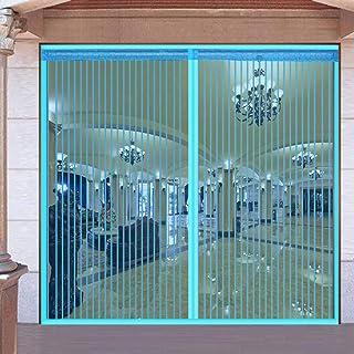 Grande Cortina Mosquitera Magnética Para Puertas, Mosquitera Puerta Magnetica Apagar Automáticamente Sin Taladrar Dormitorio Con Balcón Cortina De Puerta-azul-80x210cm(31x83inch)