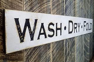 WASH DRY FOLD Sign Horizontal 55