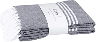 CLOEV Turkish Style Towel   Pack of 2, Cotton Bath Towels with Super Absorb Texture, Thin Unisex Quick Dry Medium Size Sof...