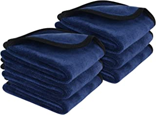 Sunland Microfiber Makeup Remover Facial Cloths Chemical Free Face Cleaning Towel 3 Pack (6 Pack, Navy Blue)