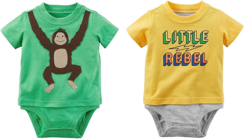 Carters Baby Boys Bodysuits Set of 2 Short Sleeve