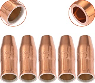 Gas Nozzle Tip Copper 200-258 200258 1/2 Inch Orifice Flush Tip for Miller Hobart MIG Welding Guns (5Pcs)