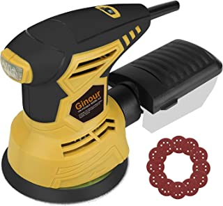 Ginour 6+Max Variable Speed Random Orbit Sander, 5-inch 12000 OPM Sander with 10Pcs Sandpapers, Efficient Dust Collection System, Ideal for Sanding, Finishing, Polishing Wood