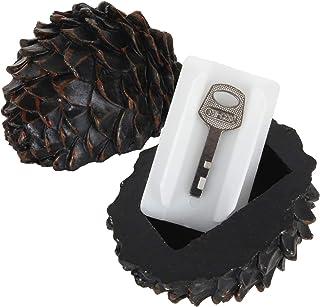 Hide Key Outdoor Pinecone 2 Pack Garden Spare Key Hider Outdoor in Pine Nuts Resin Disguise Storage Case, Hidden Key Box f...