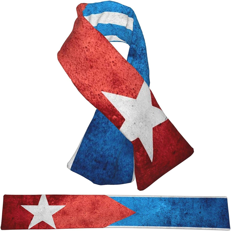 Winter Scarfs Vintage Cuba Flag Scarves Wraps Neck Warmer Flannel Winter Cross Tie Scarves