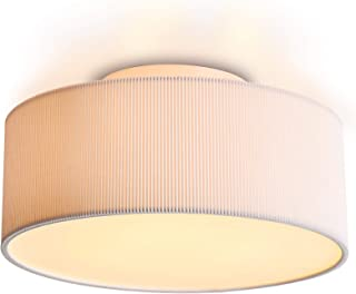 flush mount ceiling light with fabric shade
