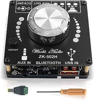 ZHITING HiFi 2.0 Amplificador Bluetooth Estéreo Bluetooth Placa de Amplificador de Potencia Digital Módulo 2.0 Canal 2X50W...