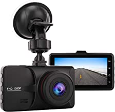 "MoKo FHD Car Dash CAM, Full HD 1080P Car Video Camera DVR WDR Driving Recorder with G-Sensor Motion Detection Night Vision, 3"" LCD Display 170 Degree Wide Angle Loop Recording Parking Monitor, Black"