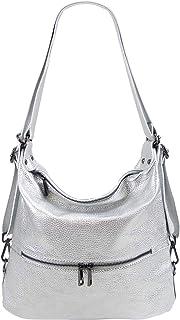 Freyday 2in1 Rucksackhandtasche Designer Damen Handtasche Henkeltasche 100% Echtleder HR02