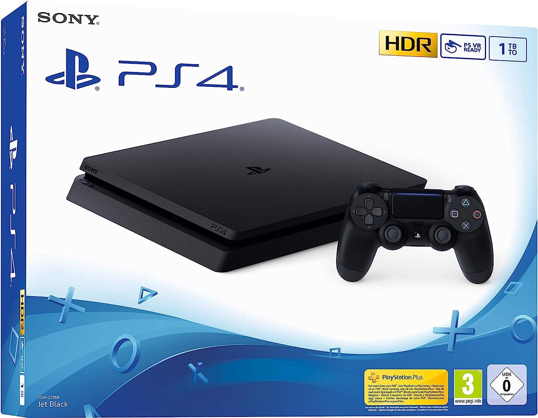 Sony PS4 Slim 1TB Negro 1000 GB Wifi - Videoconsolas (PlayStation 4, Negro, 8192 MB, GDDR5, GDDR5, AMD Jaguar)