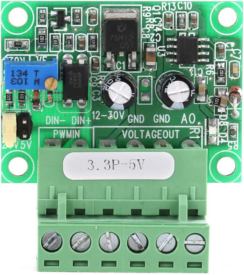 Shexton Digital-Analog PLC Module, 3.3V PWM Signal to 0-5V Voltage Converter D/A Digital-Analog PLC Module