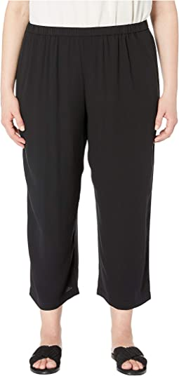 fbc9250cf22 Black. 2. Eileen Fisher. Plus Size Silk Georgette Crepe Straight Cropped  Pants.  151.70MSRP   258.00