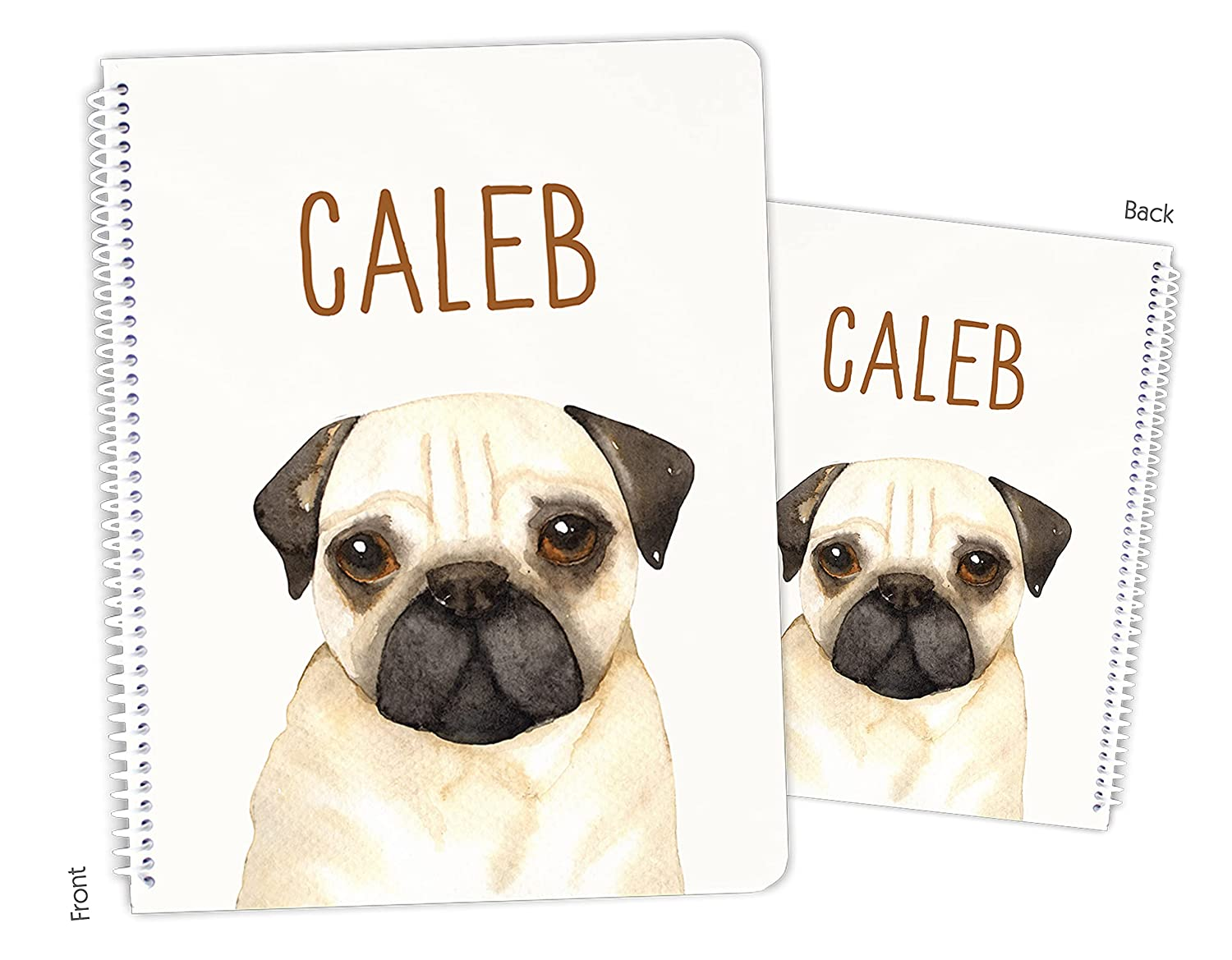 Personalized Pug Dog Puppy It is very popular Sketchbook Bound Spiral trend rank Notebook