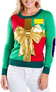 Women's Sweater - Cute Wrapping Paper Christmas Sweater