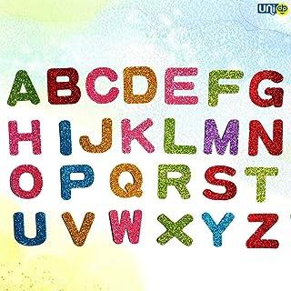 Selling Uniqness UNIq 90 Pieces Glitter Foam Stickers 26 English Alphabet Letter Wall Decals Self Adhesive Wall Art Murals...