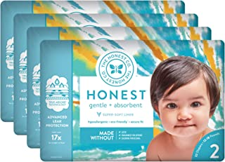 The Honest Company Baby Diapers with Trueabsorb Technology, Peace Out, Size 2, 128 Count