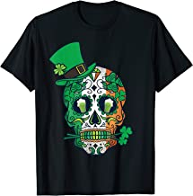 Day Of The Dead Irish Shamrock Shirt Sugar Skull Leprechaun