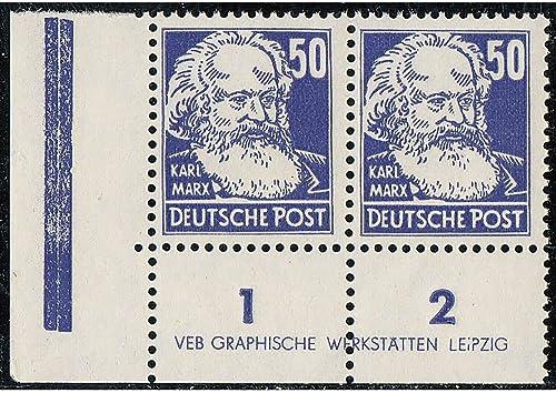 Goldhahn DDR Nr. 337 v XI DZ1 R1-2 postfrisch  Druckvermerk Briefmarken für Sammler