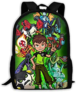 ODFRQW Benjamin-Tennyson Youth Adult Backpack College Bookbag Shoulder Laptop Bag Rucksack Daypack (16.9X11.0X6.3 Inch)