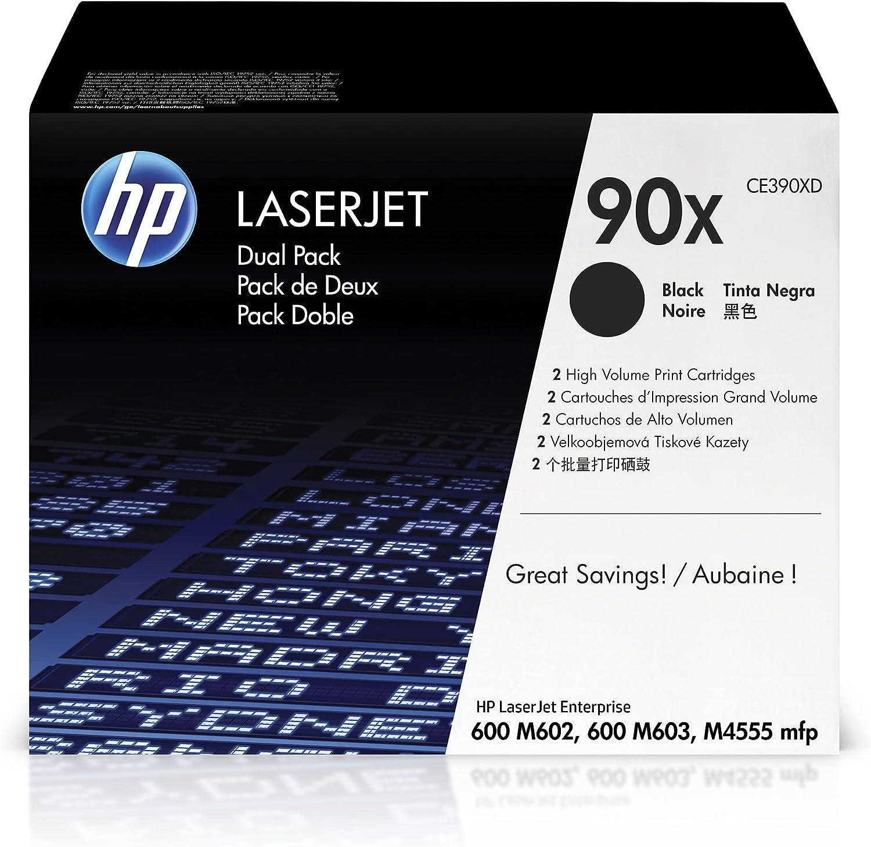 HP 90X | CE390XD | 2 Toner-Cartridges | Black | High Yield